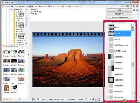 لقطة شاشة PhotoScape لنظام التشغيل Windows XP