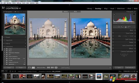 لقطة شاشة Adobe Photoshop Lightroom لنظام التشغيل Windows XP