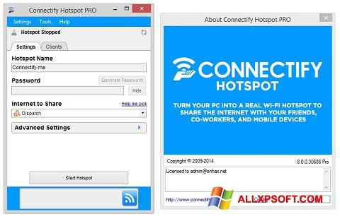 لقطة شاشة Connectify Hotspot لنظام التشغيل Windows XP