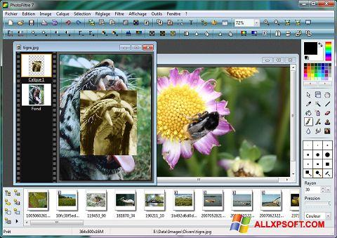 لقطة شاشة PhotoFiltre لنظام التشغيل Windows XP