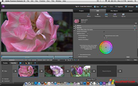 لقطة شاشة Adobe Premiere Elements لنظام التشغيل Windows XP