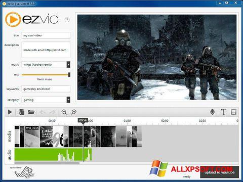 لقطة شاشة Ezvid لنظام التشغيل Windows XP