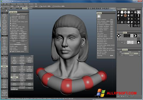 لقطة شاشة 3D-Coat لنظام التشغيل Windows XP
