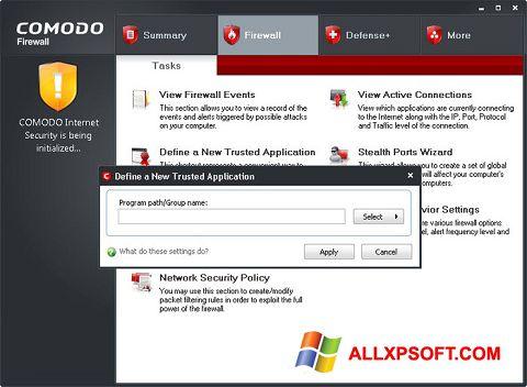 لقطة شاشة Comodo Firewall لنظام التشغيل Windows XP