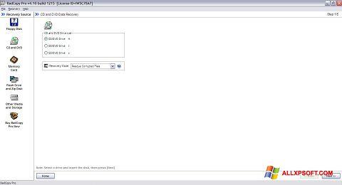 لقطة شاشة BadCopy Pro لنظام التشغيل Windows XP