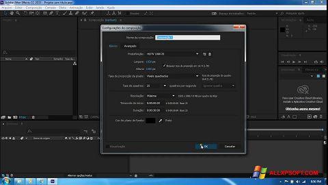 لقطة شاشة Adobe After Effects CC لنظام التشغيل Windows XP