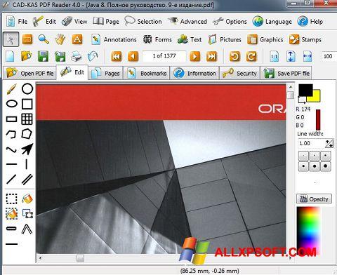لقطة شاشة PDF Reader لنظام التشغيل Windows XP