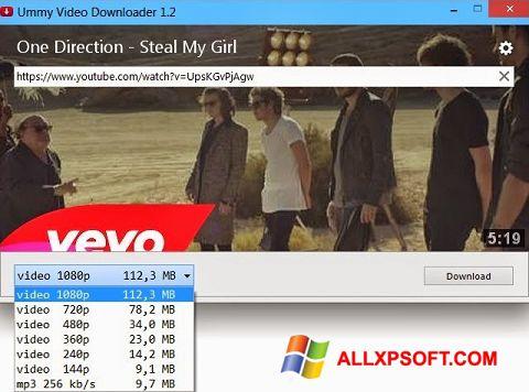لقطة شاشة Ummy Video Downloader لنظام التشغيل Windows XP