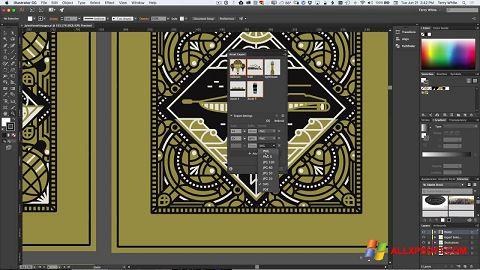 لقطة شاشة Adobe Illustrator لنظام التشغيل Windows XP