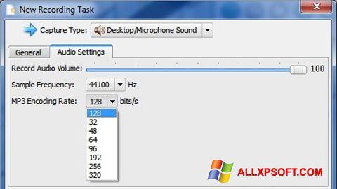 لقطة شاشة SMRecorder لنظام التشغيل Windows XP