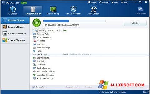 لقطة شاشة Wise Care 365 لنظام التشغيل Windows XP