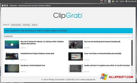 لقطة شاشة ClipGrab لنظام التشغيل Windows XP