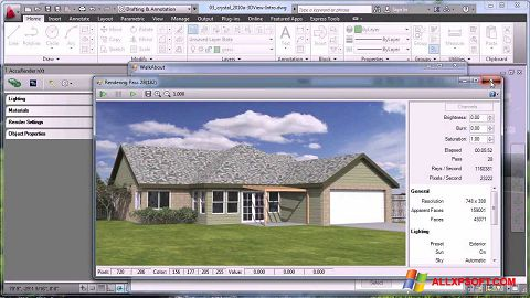 لقطة شاشة AutoCAD لنظام التشغيل Windows XP