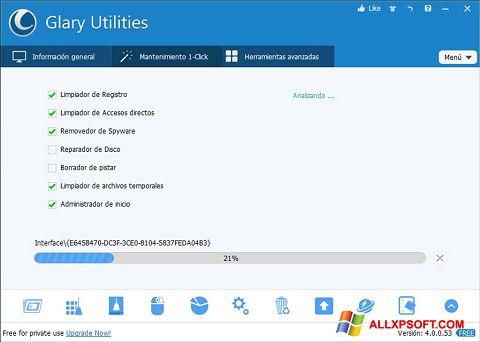 لقطة شاشة Glary Utilities لنظام التشغيل Windows XP