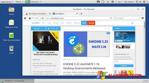 لقطة شاشة Tor Browser لنظام التشغيل Windows XP