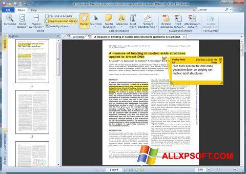 لقطة شاشة Nitro PDF Reader لنظام التشغيل Windows XP