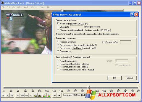 لقطة شاشة VirtualDubMod لنظام التشغيل Windows XP