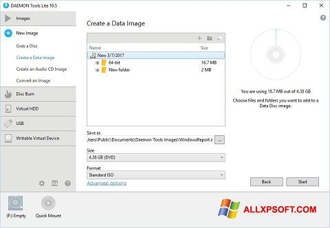 لقطة شاشة DAEMON Tools Lite لنظام التشغيل Windows XP