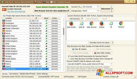 لقطة شاشة Hide ALL IP لنظام التشغيل Windows XP