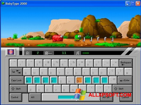 لقطة شاشة BabyType لنظام التشغيل Windows XP