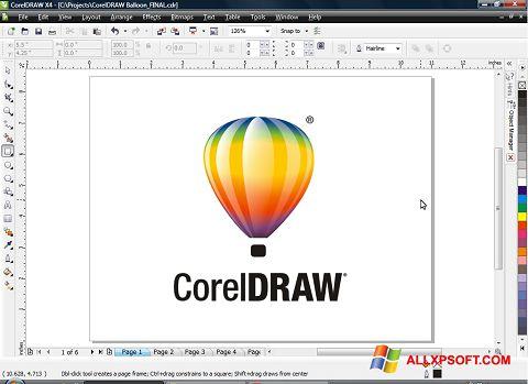 لقطة شاشة CorelDRAW لنظام التشغيل Windows XP