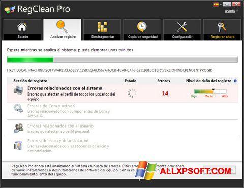 لقطة شاشة RegClean Pro لنظام التشغيل Windows XP