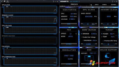 لقطة شاشة GIGABYTE OC Guru لنظام التشغيل Windows XP