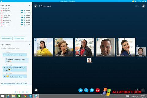لقطة شاشة Skype for Business لنظام التشغيل Windows XP