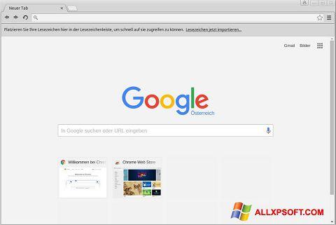 لقطة شاشة Google Chrome لنظام التشغيل Windows XP
