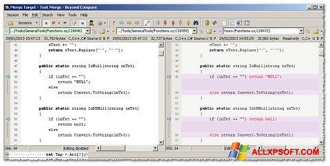 لقطة شاشة Beyond Compare لنظام التشغيل Windows XP