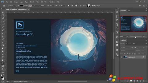 لقطة شاشة Adobe Photoshop لنظام التشغيل Windows XP