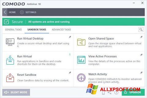 لقطة شاشة Comodo Antivirus لنظام التشغيل Windows XP