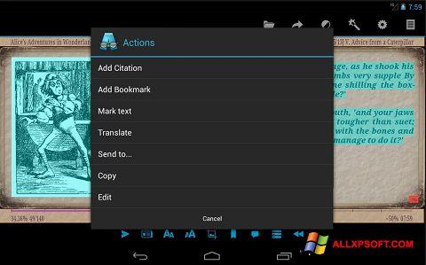 لقطة شاشة AlReader لنظام التشغيل Windows XP