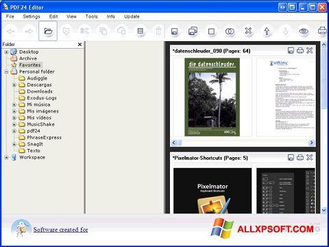 لقطة شاشة PDF24 Creator لنظام التشغيل Windows XP