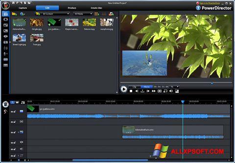 لقطة شاشة CyberLink PowerDirector لنظام التشغيل Windows XP