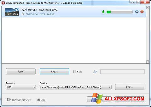 لقطة شاشة Free YouTube to MP3 Converter لنظام التشغيل Windows XP