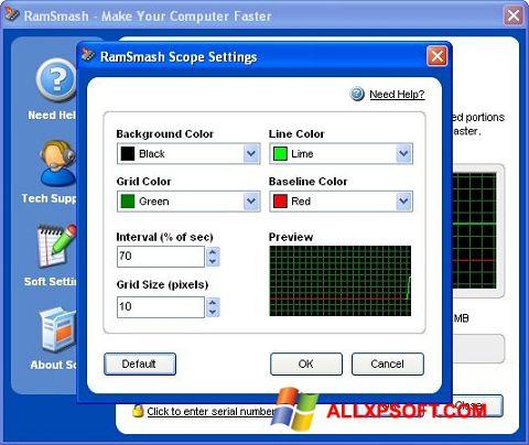 لقطة شاشة RamSmash لنظام التشغيل Windows XP