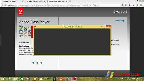 لقطة شاشة Adobe Flash Player لنظام التشغيل Windows XP