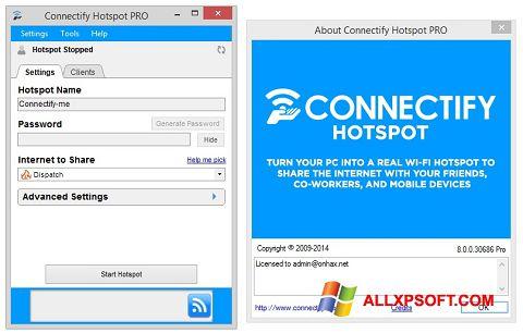 لقطة شاشة Connectify Hotspot PRO لنظام التشغيل Windows XP