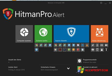 لقطة شاشة HitmanPro لنظام التشغيل Windows XP