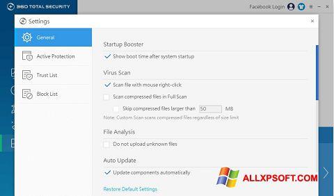 لقطة شاشة 360 Total Security لنظام التشغيل Windows XP