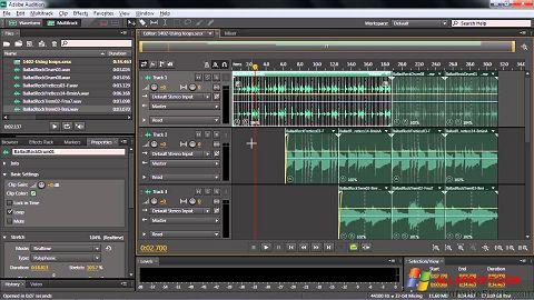 لقطة شاشة Adobe Audition CC لنظام التشغيل Windows XP
