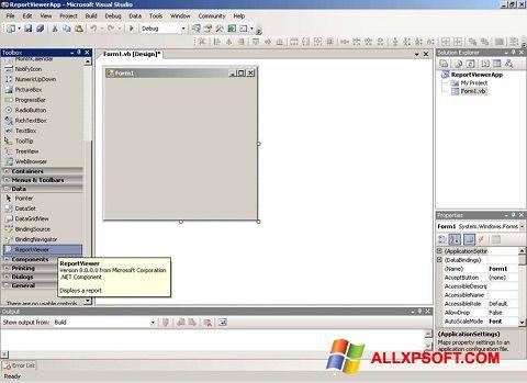 لقطة شاشة Microsoft Visual Studio لنظام التشغيل Windows XP