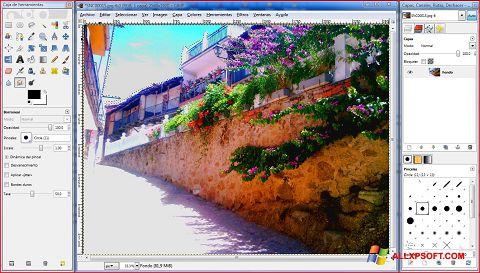 لقطة شاشة GIMP لنظام التشغيل Windows XP