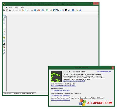 لقطة شاشة Greenshot لنظام التشغيل Windows XP