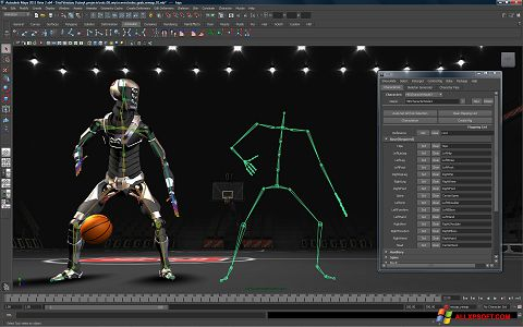 لقطة شاشة Autodesk Maya لنظام التشغيل Windows XP