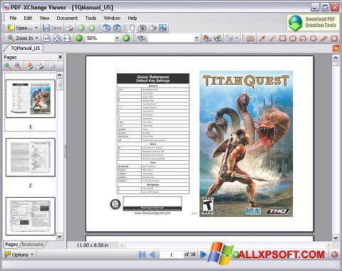 لقطة شاشة PDF-XChange Viewer لنظام التشغيل Windows XP