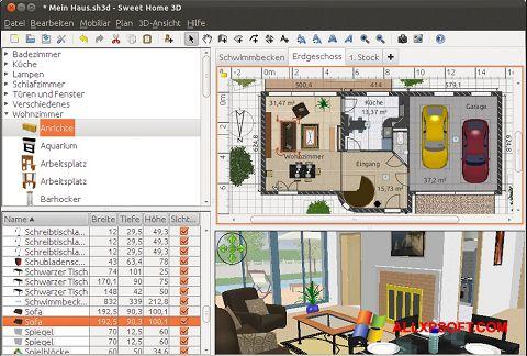 لقطة شاشة Sweet Home 3D لنظام التشغيل Windows XP