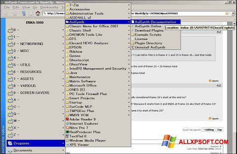 لقطة شاشة AviSynth لنظام التشغيل Windows XP