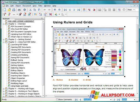 لقطة شاشة Foxit PDF Editor لنظام التشغيل Windows XP